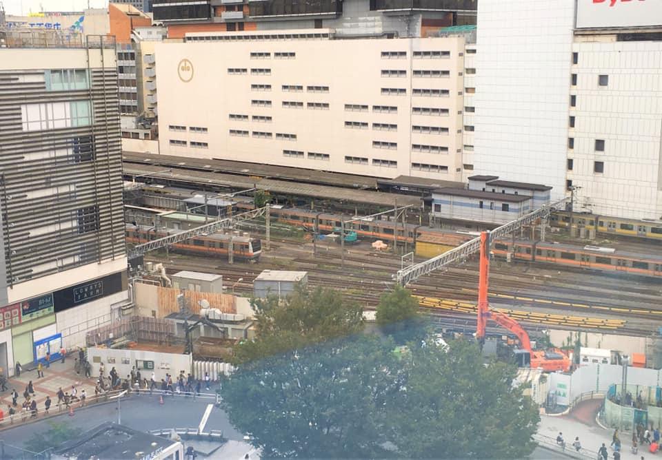 ワクスタからの眺望・鉄道編/新宿東口