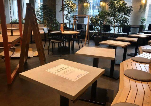 感染拡大防止策:施設全体の座席数変更