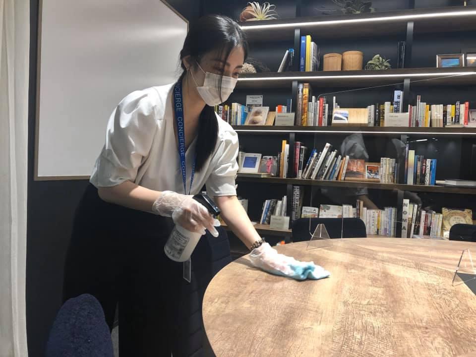 感染拡大防止策:施設内清掃の徹底